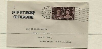 1937 Coronation Stamp First Day Cover