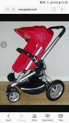 Quinny Buzz Rebel Red Travel System Single Seat Stroller