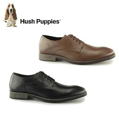 Hush Puppies CARLOS LUGANDA Mens Real Leather Lace Up Smart-Casual Derby Shoes