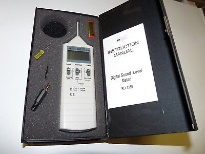 Professional Digital Sound Level Meter 35-130dB Decibel Noise Tester UK roline