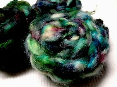 Hand Dyed Teeswater   Tops For Spinning / Felting 100 Grams