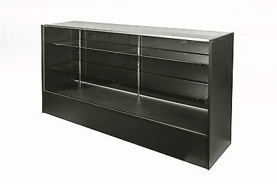 Glass Display Counter 1800L- Black