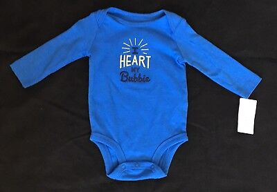 Baby Boy or Girl Carter's One Piece - I Heart My Bubbie 6 Months - New with Tags