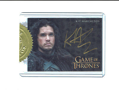 Game of Thrones Season 4 Gold Incentive Autograph Card Kit Harington as Jon Snow