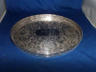 Lovely Vintage Small Dressing Table Gallery Tray C1950 Barker Ellis Silver Plate
