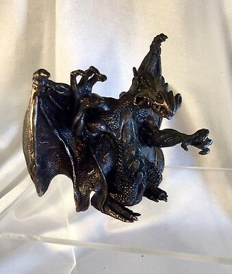 Bronze dragon Sculpture Vintage..heavy. Great Character