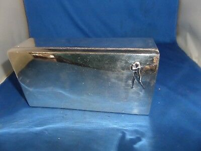 Lovely Golfing Scene Silver Plated Large Box C.1900 Martin & Hall & Co Vintage