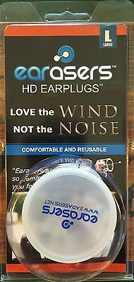 Musician or Bikers EARasers HiFi Earplugs w FREE Stash-Can -- small, med, & larg