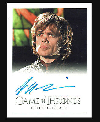 Game of Thrones Season 4 Autograph Card Peter Dinklage as Tyrion Lannister Auto