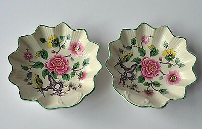 2 Vintage Old Foley James Kent Chinese Rose Candy Dishes