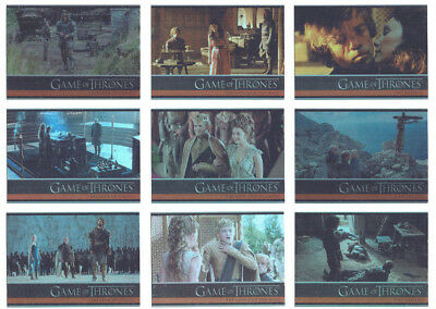 Game of Thrones Season 4 Complete 100 Card Foil Parallel Base Card set