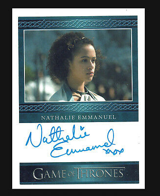 Game of Thrones Season 4 Autograph Card Nathalie Emmanuel as Missandei Auto Card