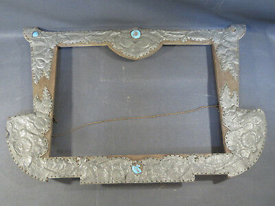 Antique very old frame wooden and décor zinc vintage french antique frame