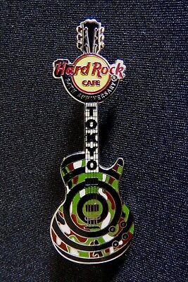 Hard Rock Cafe TOKYO 2007 24th ANNIVERSARY Target Camouflage Guitar Pin Badge LE