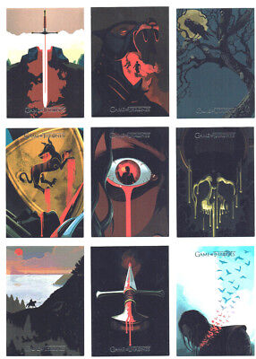 Game of Thrones Season 4 Complete Beautiful Death 20 Card Chase Set BD1 - BD20