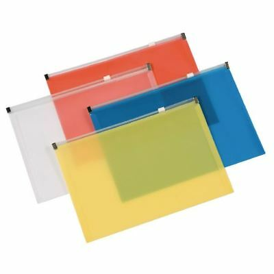 Q-Connect Assorted A4 Document Zip Wallet (Pack of 20) KF16552 [KF16552]