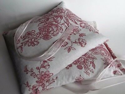 Handmade Microwaveable Heat/Chill Pad/Bag Wheat or Flax - Dusty Rose