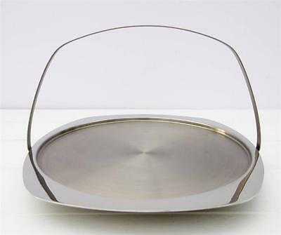 Vintage Retro Mid Century Stainless Steel Cake Stand
