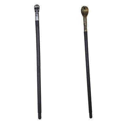 Skull Or Snake Cobra Cane Halloween Fancy Dress Party Prop Walking Stick