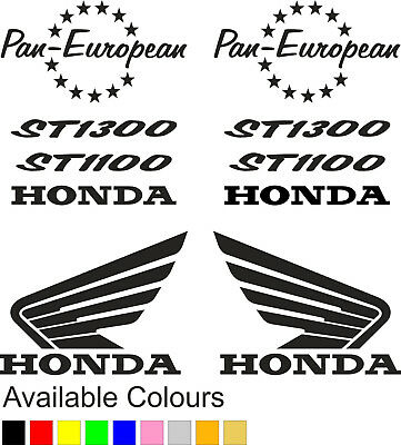 Honda petrol tank fairing stickers | Pan European ST1100, ST1300  | (BB101)