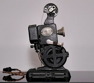 Vintage 1930s Pathescope Kid 9.5mm projector with halogen lamp - working