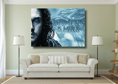 Game Of Thrones Jon Snow Winter is Here Large Poster Wall Art Print - A0 A1 A2