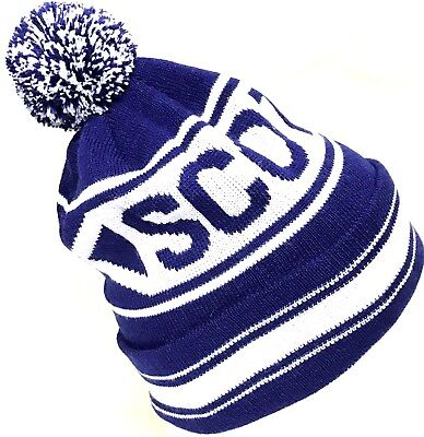 Scotland Bobble Beanie Football Rugby Winter Knitted Pom Pom Hat