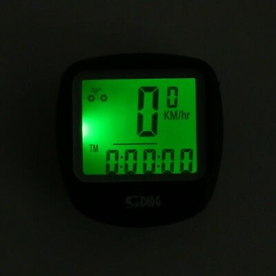 Outdoor Multifunction Water Resistant Cycling Odometer Speedometer LCD Backlight
