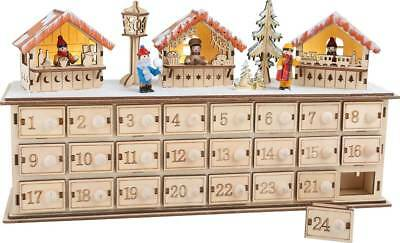 adventskalender mit beleuchtung aus holz weihnachtsbasar. Black Bedroom Furniture Sets. Home Design Ideas