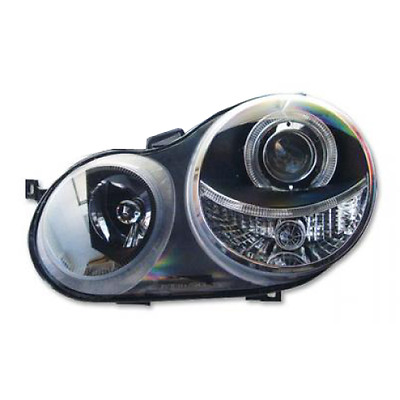 Volkswagen / VW Polo Mk4 02-04  Black Halo Headlights / Angel Eyes