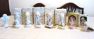 Enesco Precious Moments Figurines w Boxes, 1978-1995, Nice Collection