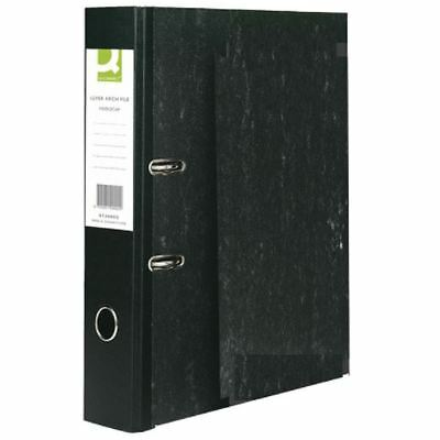 Q-Connect Black Foolscap Lever Arch File (Pack of 10) KF20002 [KF20002]