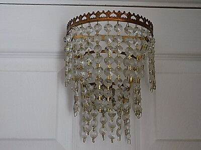 Vintage.3 Tier Wall mount glass droplet lamp light