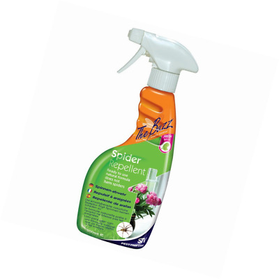The Buzz Spider Repellent Spray (Humane,Natural Mint Treatment,Deters Spiders)
