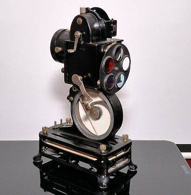 Vintage Pathe Baby 9.5mm projector with 'color-baby' filter unit