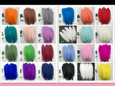 Wholesale 20-1000pcs beautiful high quality goose feathers 6-8 inches / 15-20 cm