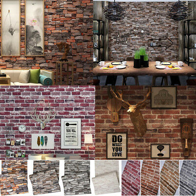 THICK 3D Stone/Brick Wall Paper Sticker Waterproof Patterned Mural Decoration