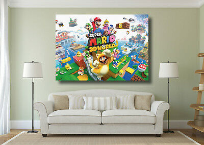 Super Mario 3D Land Kids Large Poster Wall Art Print - A0 A1 A2 A3 A4 Maxi
