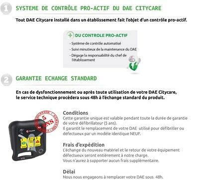 reprise LOCATION MAINTENANCE DEFIBRILLATEUR CITYCARE DAE - REMISE IMMEDIATE 50%