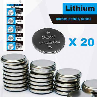 20 x CR2032 BR2032 DL2032 Branded Hitachi 3V LITHIUM Coin Cell Button Batteries