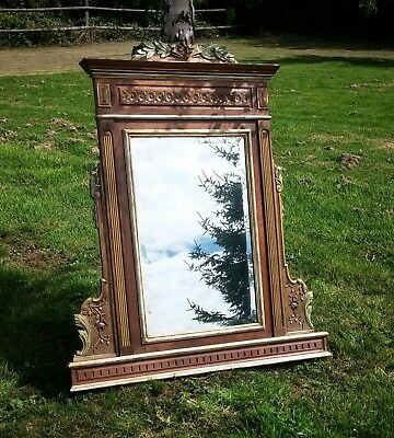 French antique over mantle mirror.