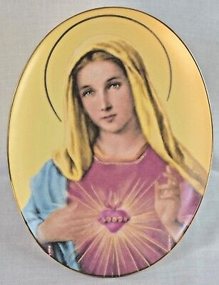 "Saint Margaret Mary & The Sacred Heart of Jesus 8.5"" Wall Hanging Plate"