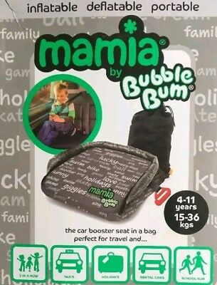 Bubblebum Mamia Kids Child Booster, Car Seat, GREY Brand New in Box