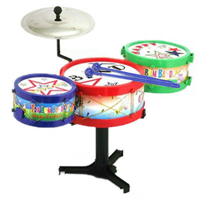PF Children Kids Colorful Plastic Musical Instruments Toy Drum Drum Kit Set