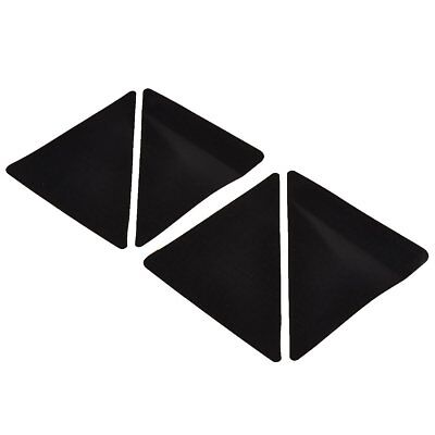 PF 4 pcs/set 15*7.5cm Reusable Triangle-shaped Anti-skid Rubber Floor Carpet Mat