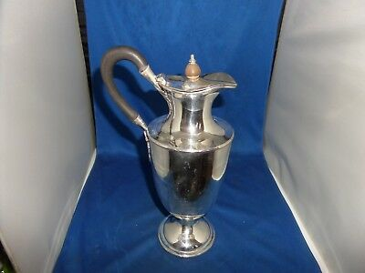 Lovely Large Size Georgian Style Claret Jug C.1900 Silver Plate William Hutton