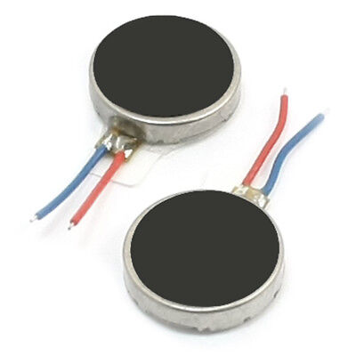PF 2Pcs 10mm x 2.5mm Disc Shape Vibrating Vibration Motor for Cell Phone