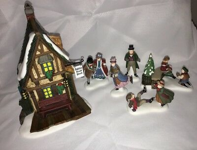 Dept 56 Ashley Pond Skating Party Set Of 6 1999 Dickens Retired 58405 Perfect!