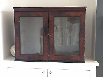 Antique Wall Display Cabinet - Ebonised