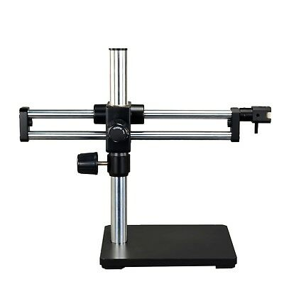 New Stereo Microscope Ball-Bearing Dual-Bar Boom Stand Solid Cast Steel Base